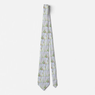 Wetlands Grasses Meadow Nature Floral Tie