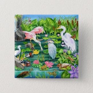 Wetlands Wonder 15 Cm Square Badge