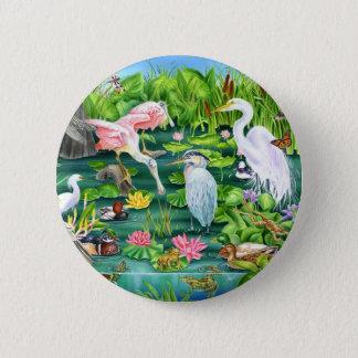 Wetlands Wonder 6 Cm Round Badge