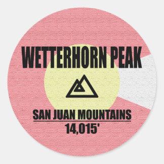 Wetterhorn Peak Classic Round Sticker