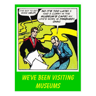We've Been Visiting Museums Postcard