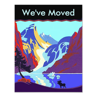 """We've I've Moved Announcement Up North Territory 4.25"""" X 5.5"""" Invitation Card"""