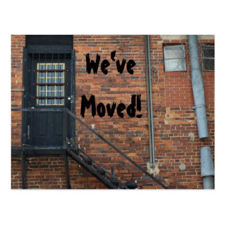 We've Moved! Announcement postcard