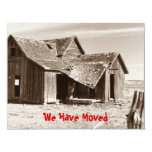 We've Moved Announcement Sepia Old Homestead