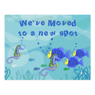 We've Moved Aquatic Life - Customize Postcard