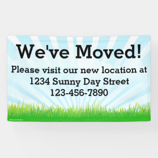 We've Moved Business Moving Sign Banner