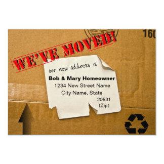 WE'VE MOVED - CARDBOARD BOX NOTICE CARD