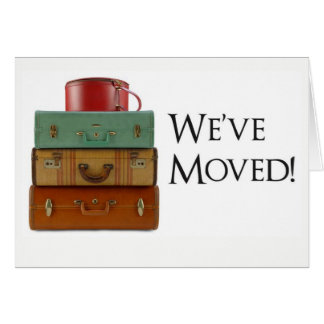 We've Moved! Change of Address Card