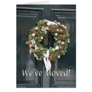 We've Moved - Christmas wreath Card