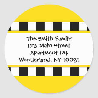 We've Moved Cityscape Address Label