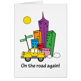 We've Moved Cityscape Card - Vertical