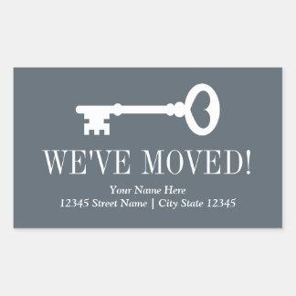 We've moved custom vintage key moving stickers