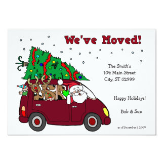 We've Moved Holiday Cards - 5x7 cards Invitations