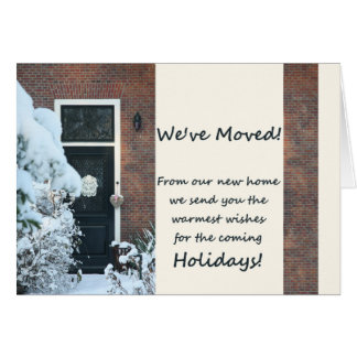 We've Moved - New Address Christmas Card