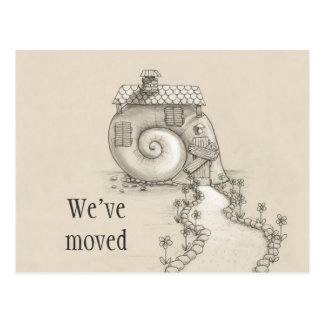 We've moved new address snail house Postcard