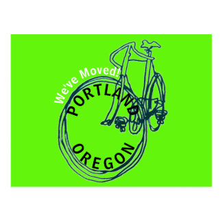 We've Moved Portland Oregon New Address Postcard