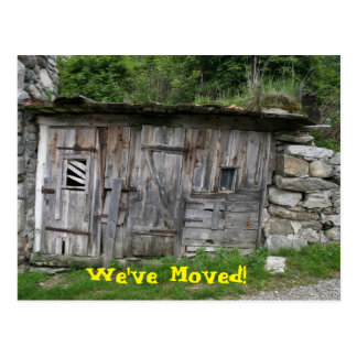 We've Moved Ruin Postcard