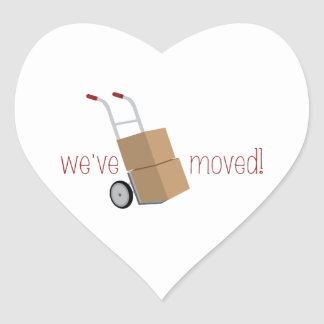 We've Moved! Heart Sticker