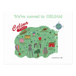 We've Moved to Celina Texas Postcard
