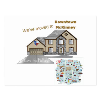 We've Moved to Downtown McKinney Texas Postcard