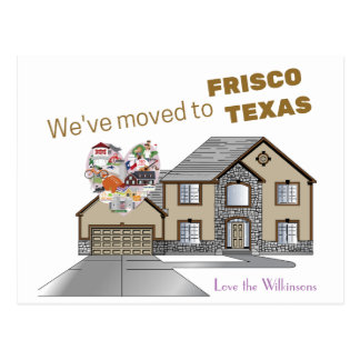 We've moved to Frisco Texas Postcard