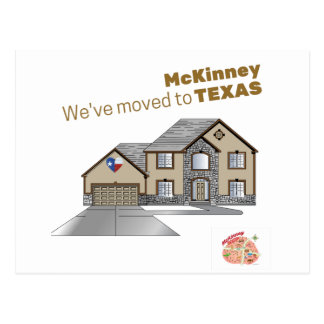 We've moved to McKinney Texas Postcard