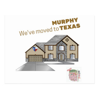 We've moved to Murphy Texas Postcard