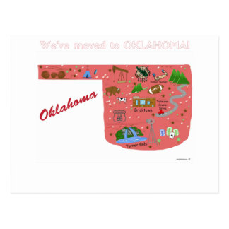 We've Moved to Oklahoma Postcard
