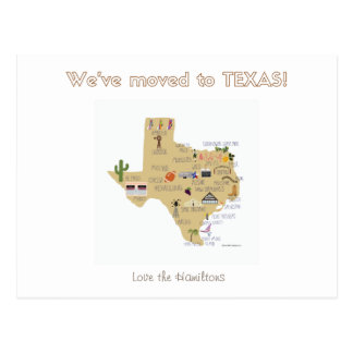 We've Moved to Texas Postcard