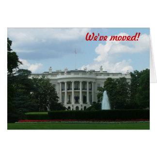 We've moved - to Washington DC Card