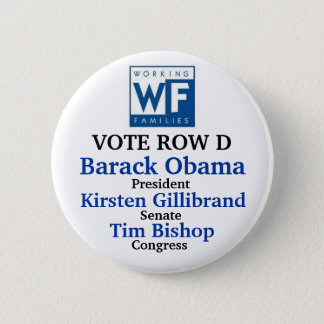 WFP for Obama Gillibrand and Bishop 6 Cm Round Badge