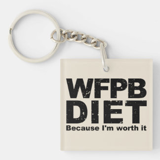 WFPB I'm Worth It (blk) Key Ring