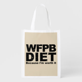WFPB I'm Worth It (blk) Reusable Grocery Bag