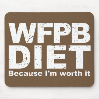 WFPB I'm Worth It (wht) Mouse Pad
