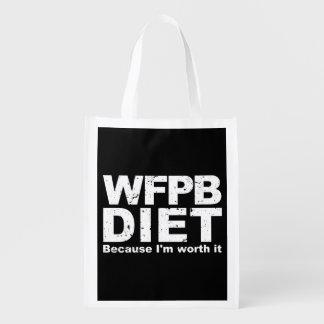 WFPB I'm Worth It (wht) Reusable Grocery Bag