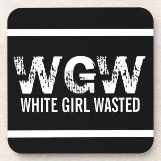 WGW White Girl Wasted Coasters
