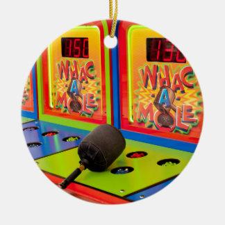 Whac A Mole Ceramic Ornament
