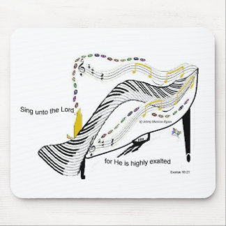 whacky piano party Mimajukrra Mouse Pad