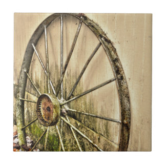 Whagon Wheel Ceramic Tile