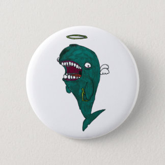 Whale angel Button