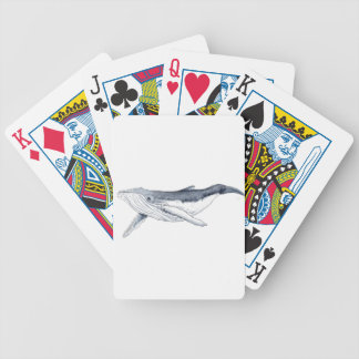 whale baby fond transparent bicycle playing cards