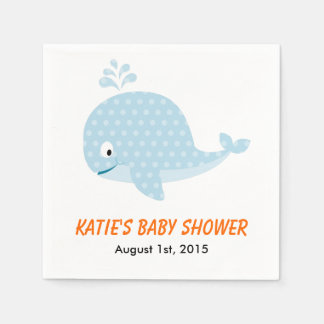 Whale Baby Shower Napkins Disposable Serviette