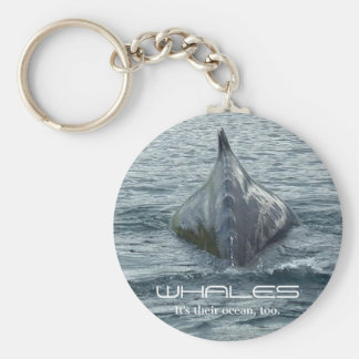Whale Back and Dorsal Fin Key Ring