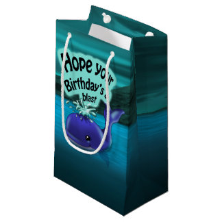 Whale Birthday Gift Bag - Small, Glossy