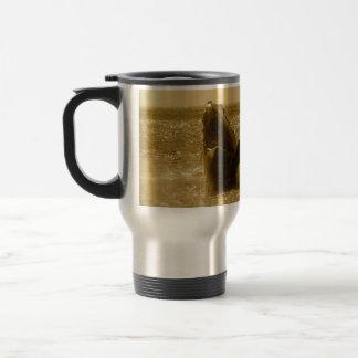 Whale breach travel mug