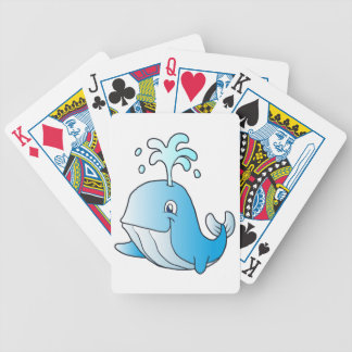 whale cartoon bicycle playing cards
