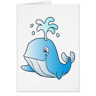whale cartoon card