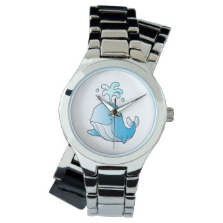 whale cartoon watch