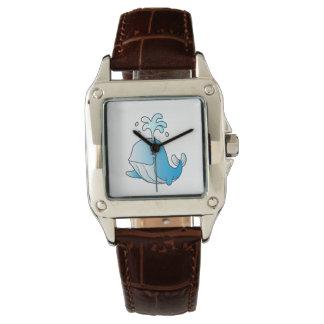 whale cartoon wrist watches