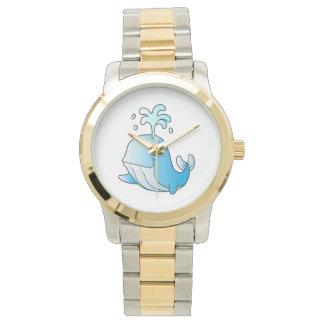 whale cartoon wristwatch